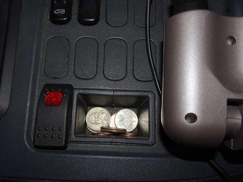 solenoid valve button