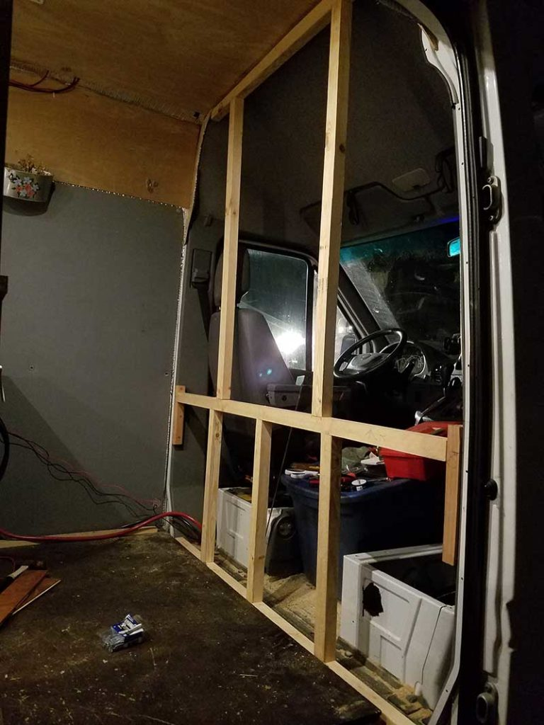 Diy Sprinter Van Partition Hurried Year
